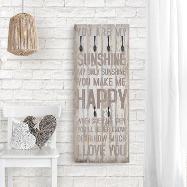 Appendiabiti in legno - No.RS182 Sunshine - Ganci neri - Verticale