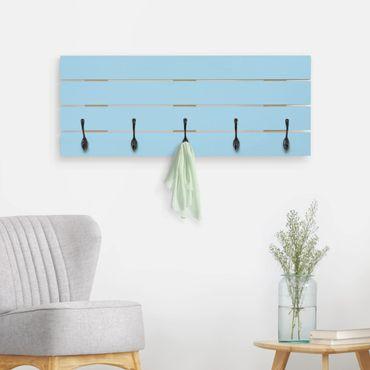 Appendiabiti in legno - pastello blu
