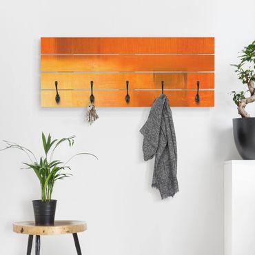 Appendiabiti in legno - Petra Schüßler - Composizione in arancio e marrone 03