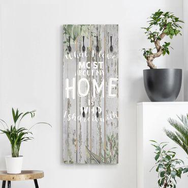Appendiabiti in legno - Shabby Tropical - Home Is