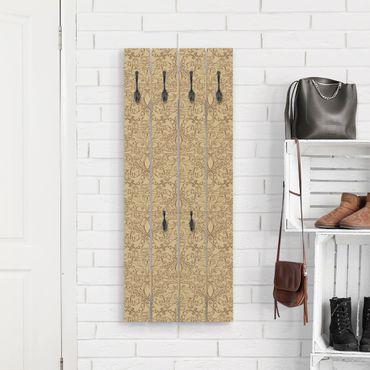 Appendiabiti in legno - Motivo Spiritual Beige
