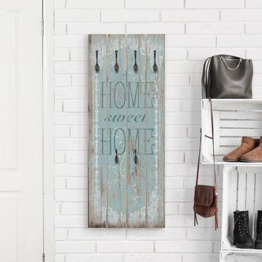 Appendiabiti in legno - Sweet Home - Ganci neri - Verticale