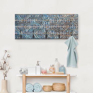 Appendiabiti in legno - Porta con intaglio marocchino