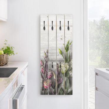 Appendiabiti in legno - Tulip Rose Shabby Woodlook