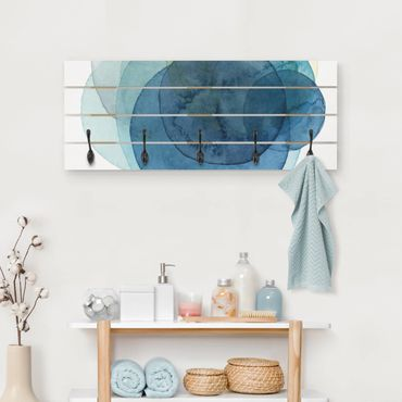 Appendiabiti in legno - Big Bang - Blu