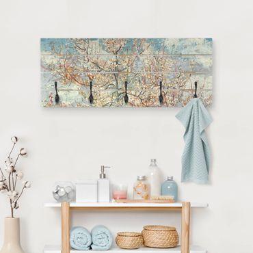 Appendiabiti in legno - Vincent Van Gogh - Peach Blossom