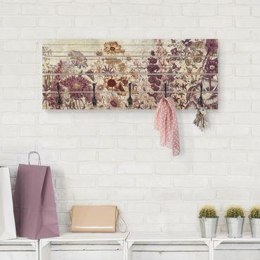 Appendiabiti in legno - Floral Woodlook Vintage
