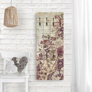 Appendiabiti in legno - Vintage Floral Woodlook II