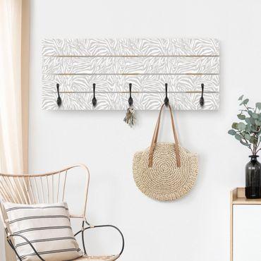 Appendiabiti in legno - Zebra disegno grigio chiaro motivo a strisce