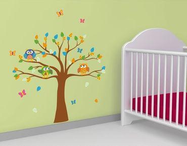 Adesivo murale - gufi colorati