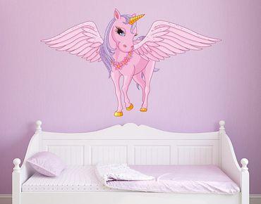 Adesivo murale - Unicorno con le ali