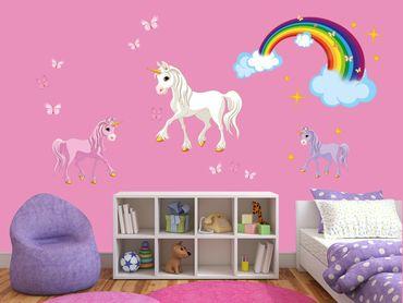 Adesivo murale - Unicorn Set