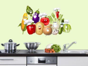 Adesivo murale - verdure giocherellona