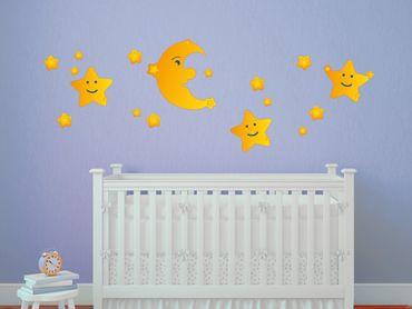 Adesivo murale - Luna e le stelle