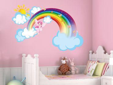 Adesivo murale - Arcobaleno Fata