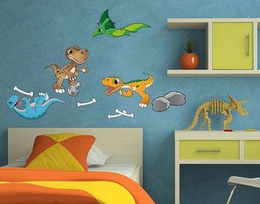 Adesivo murale - Giocare Dino Amici