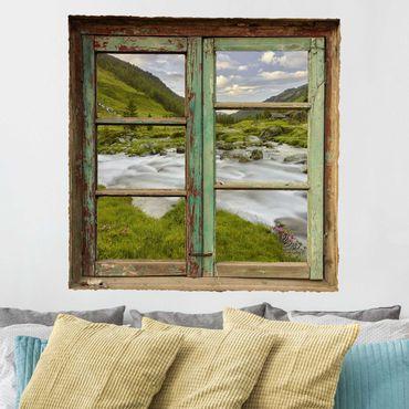 Adesivo murale 3D - Alpine Meadow Tirol - quadrata 1:1