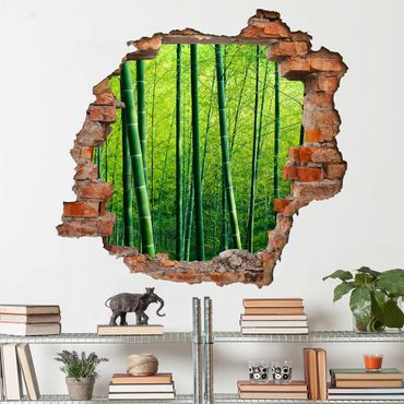Adesivo murale 3D - Bamboo Forest - quadrata 1:1