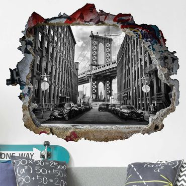 Adesivo murale 3D - Manhattan Bridge In America - orizzontale 4:3