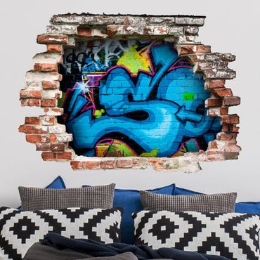 Adesivo murale 3D - Colours Of Graffiti - orizzontale 4:3