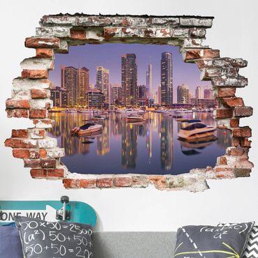 Adesivo murale 3D - Dubai Skyline And Marina - orizzontale 4:3