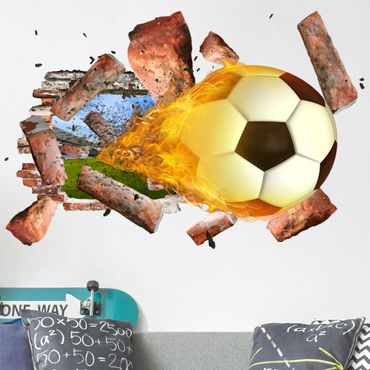 Adesivo murale 3D - Soccer - orizzontale 3:2