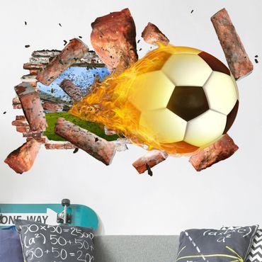 Adesivo murale 3D - Soccer - orizzontale 3:2