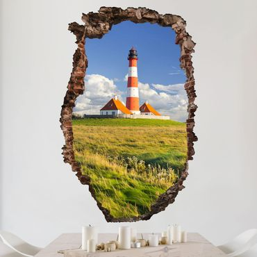 Adesivo murale 3D - Lighthouse In Schleswig-Holstein - verticale 2:3