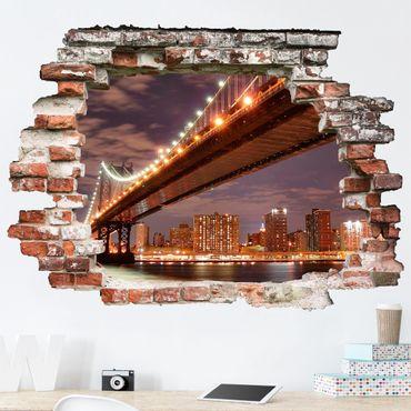 Adesivo murale 3D - Manhattan Bridge - orizzontale 4:3
