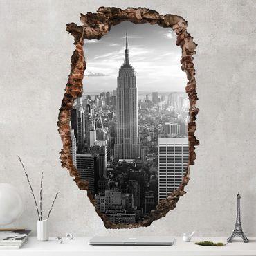 Adesivo murale 3D - Manhattan Skyline - verticale 2:3