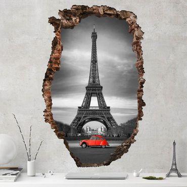 Adesivo murale 3D - Spot On Paris - verticale 2:3