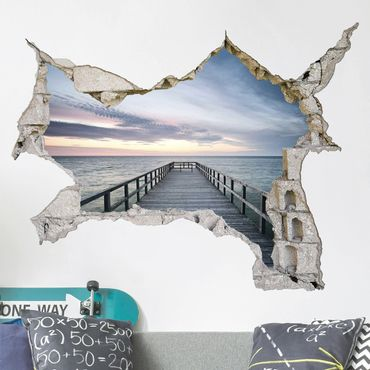 Adesivo murale 3D - Steg Promenade - orizzontale 4:3