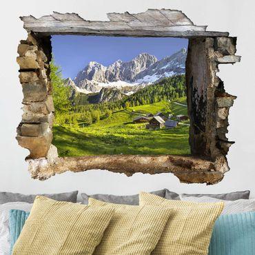Adesivo murale 3D - Styria Alpine Meadow - orizzontale 4:3