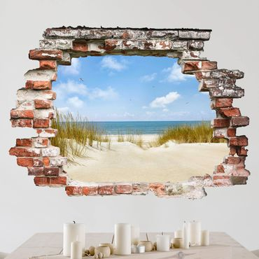 Adesivo murale 3D - Beach On The North Sea - orizzontale 4:3