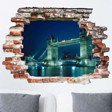 Adesivo murale 3D - Tower Bridge - orizzontale 4:3