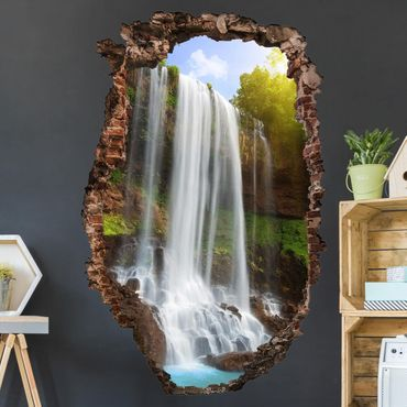 Adesivo murale 3D - Waterfalls - verticale 2:3