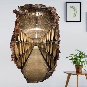 Adesivo murale 3D - Wine Cellar - verticale 2:3