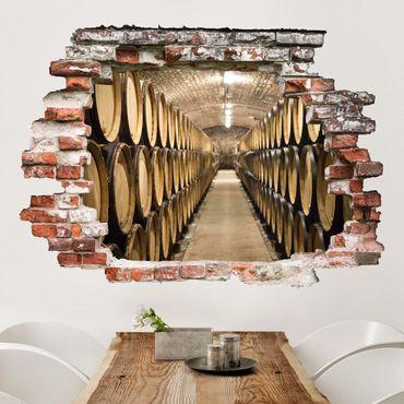 Adesivo murale 3D - Wine Cellar - orizzontale 4:3