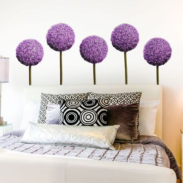 Adesivo murale Allium Flower Set of 5
