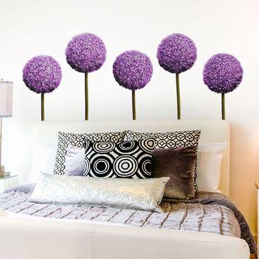 Adesivo murale Allium Flower Set of 5