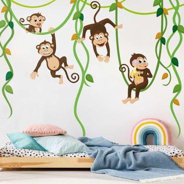 Adesivo murale no.YK28 Monkey Gang