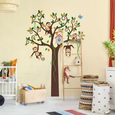 Adesivo murale no.YK27 Monkey Tree