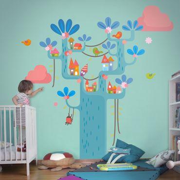 Adesivo murale no.EK153 Play Tree
