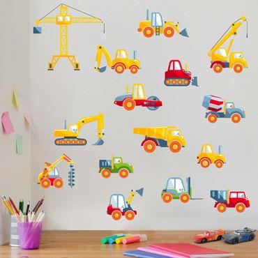 Adesivo murale - veicoli Construction Set