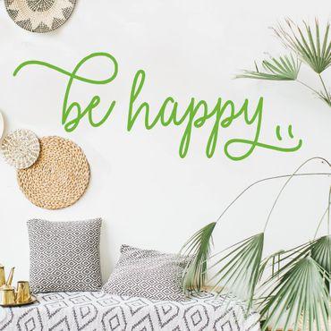 Scritte adesive per pareti - Be Happy