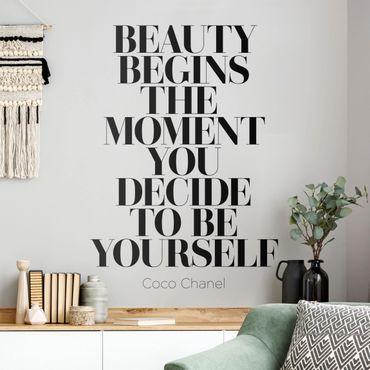 Adesivo murale - Be Yourself Coco Chanel