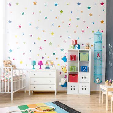 Adesivo murale 92 Colorful stars set
