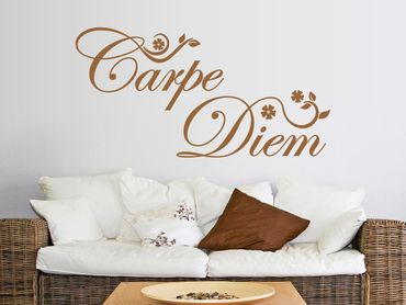 Adesivo murale - Carpe Diem floreale