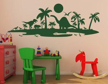 Adesivo murale - Dino paesaggio