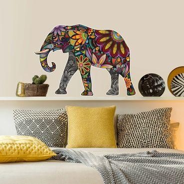 Adesivo murale no.651 Elephant Pattern